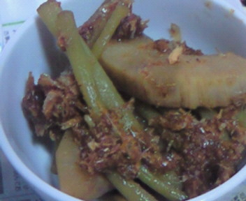 筍とツワの煮物